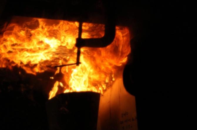 Cargo Oil Burner Test, Courtesy Zodiac
