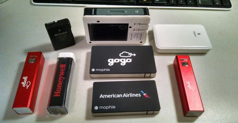 Multiple different portable power chargers for PED. TSA