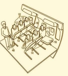 Airbus fold seat