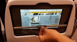 Lufthansa Systems integrated screen