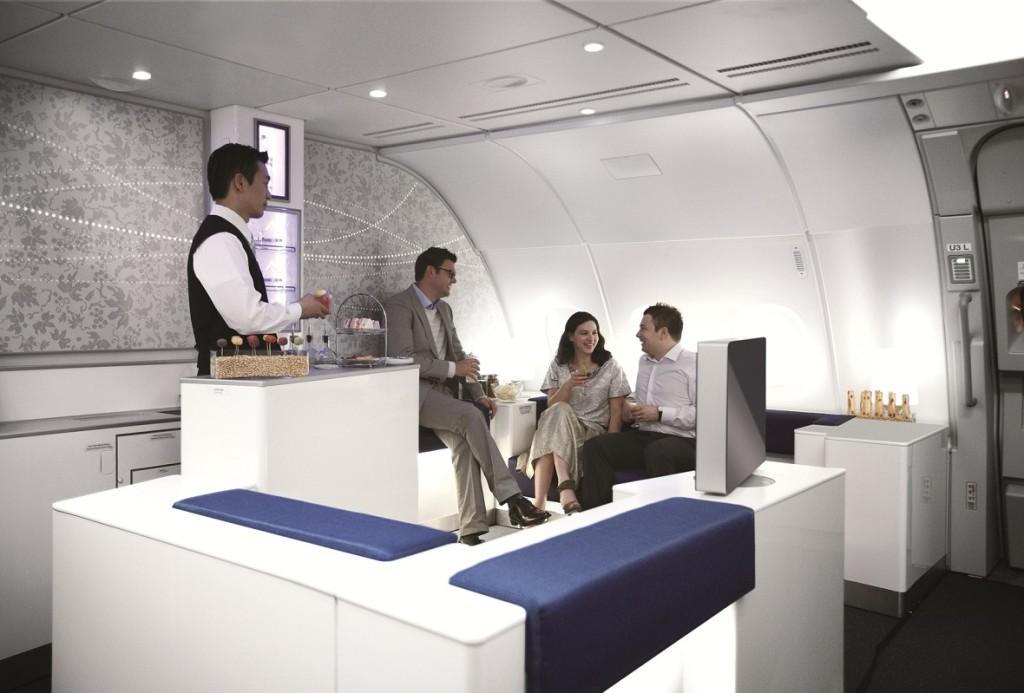 Korean Air A380 Celestial bar - people --KE