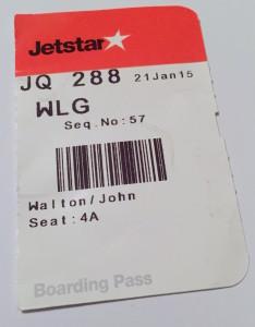 Jetstar boarding stub --JW