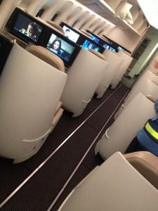 Saudia's new Diamond seating in 777-300ER business class. Image via Abdulrahman al Fahad