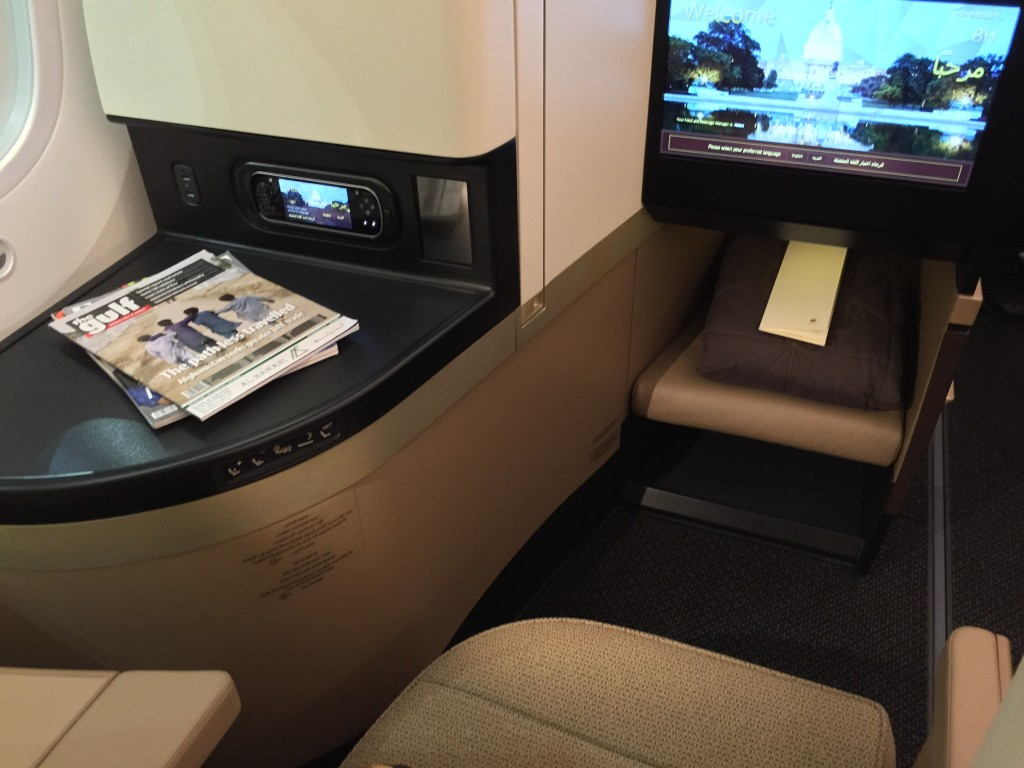Business seat - Etihad launch event at AUH --JW IMG_1035
