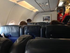 John Walton - British Airways old Club Europe - cabin-left-hand-side