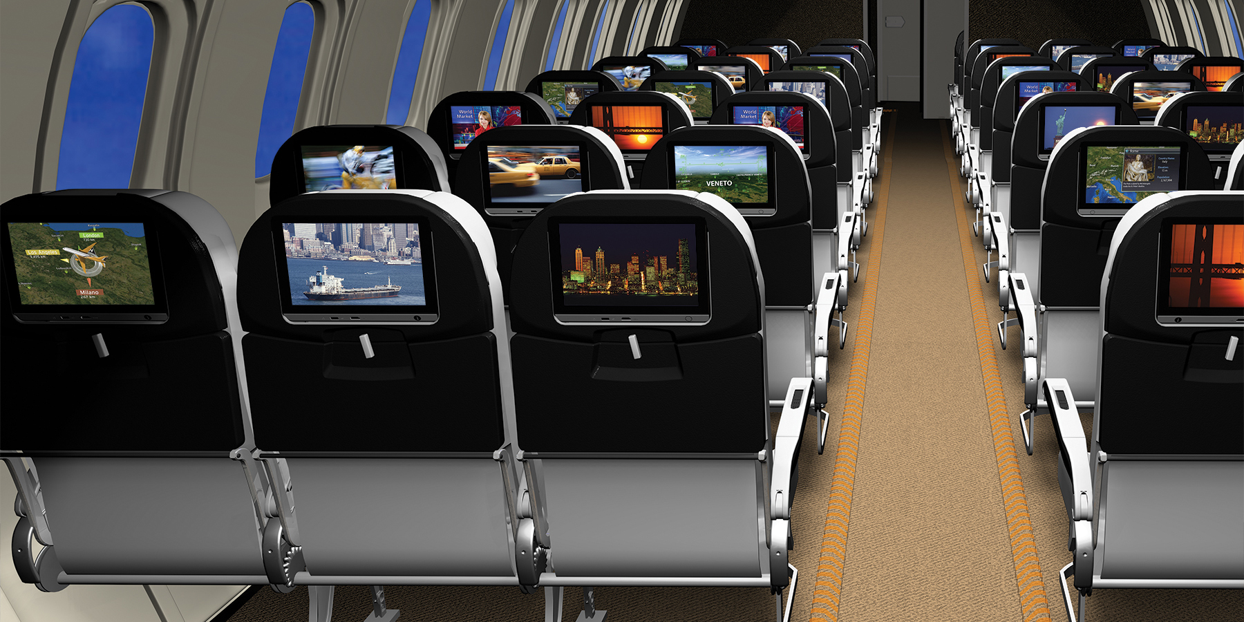 Rockwell Collins PAVES seat centric solution gives B/E Aerospace something they have needed. Image: Rockwell Collins