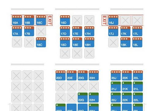 AA 777-300ER seat map