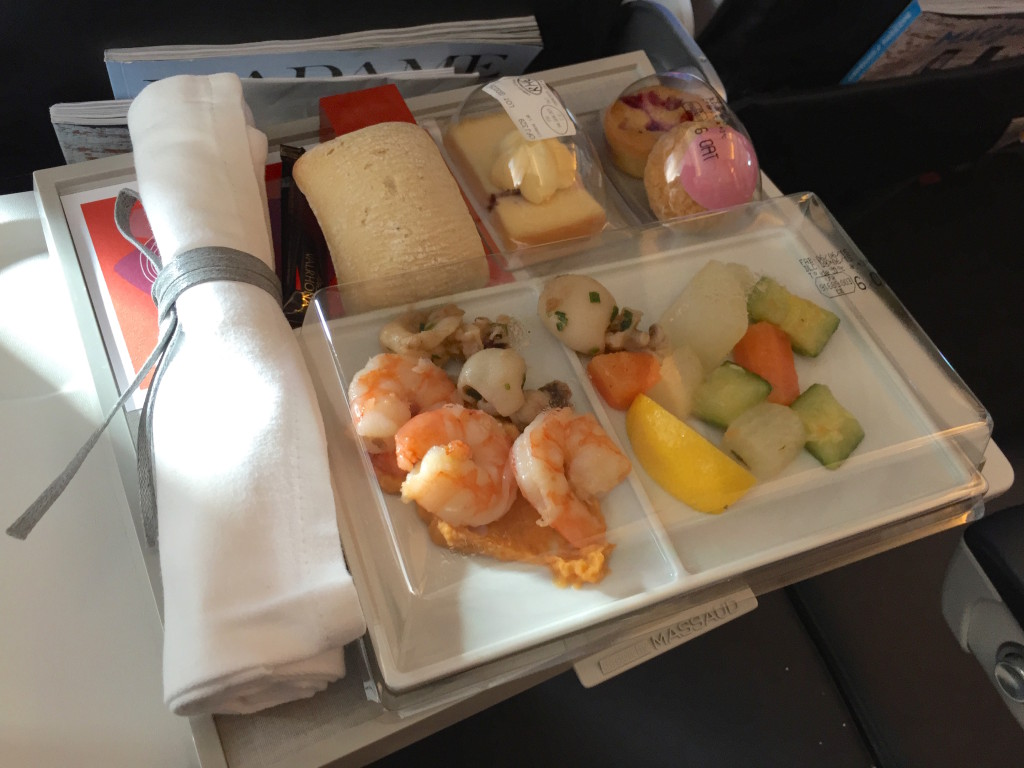 Air France's meal really made the flight for me