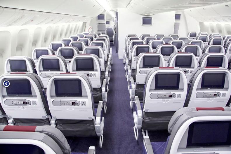 American 777-300ER economy