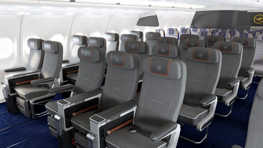 LH Premium Economy Class A340 Cabin View 1