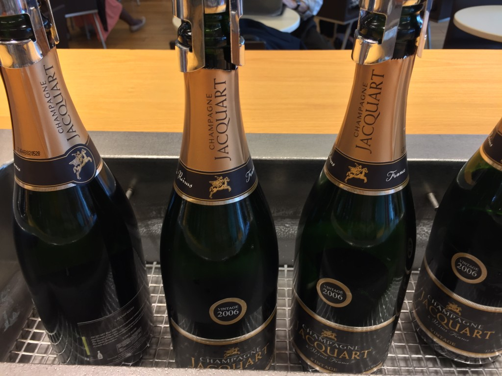 The 2006 Jacquart is a very impressive Champagne selection for a business class lounge