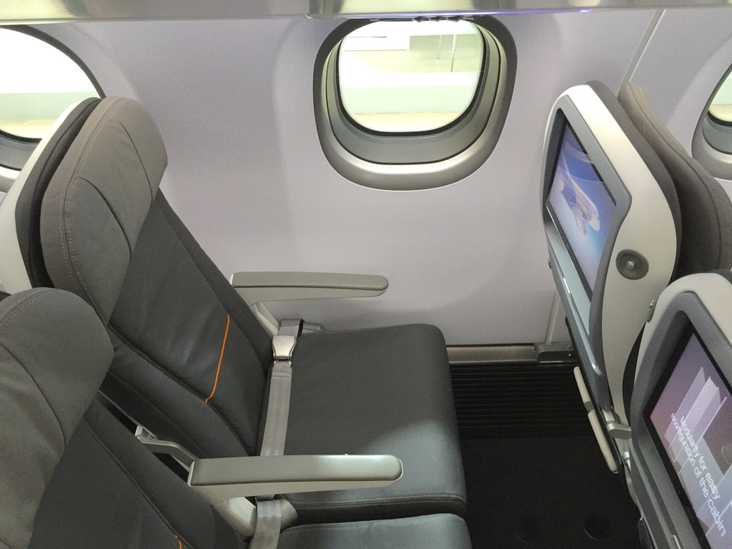 The seats Embraer referred to as Z Plus have headrests