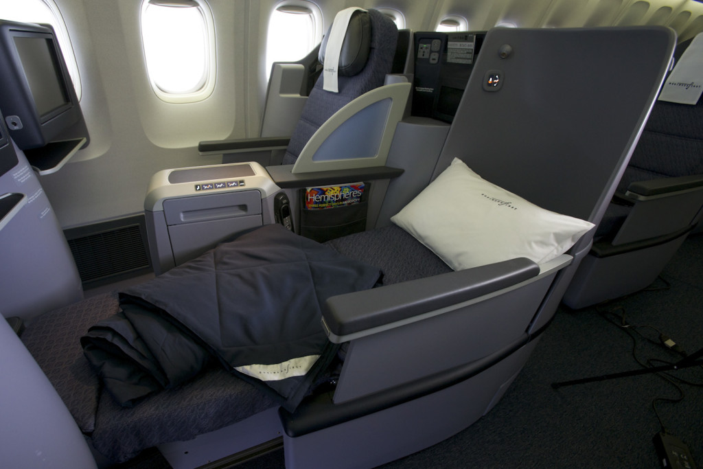 United's B:E Aerospace Diamond seat is fitted on both the p.s. and internationally configured 757-200 aircraft