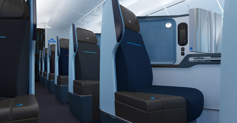 Surprising Klm Goes Direct Aisle Access In Dreamliner Business Class Frankydiablos Diy Chair Ideas Frankydiabloscom