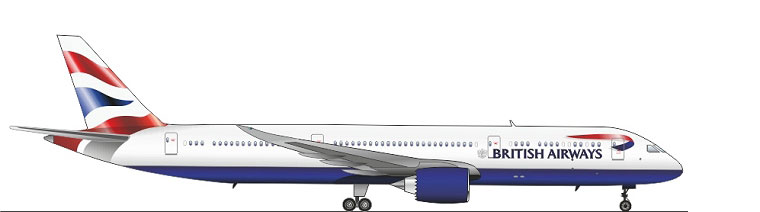 The 787-9 Dreamliner is a stretch over the 787-8