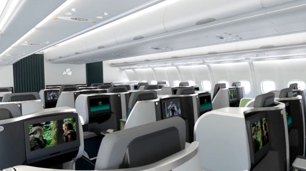 Aer Lingus new business class Thompson Vantage