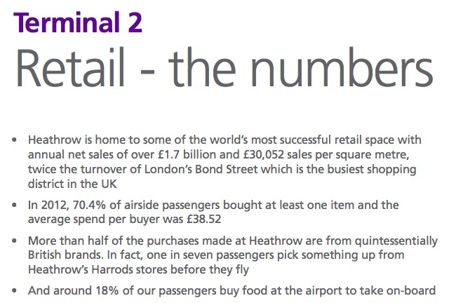 Heathrow's own facts and figures about airport retail point to part of the problem