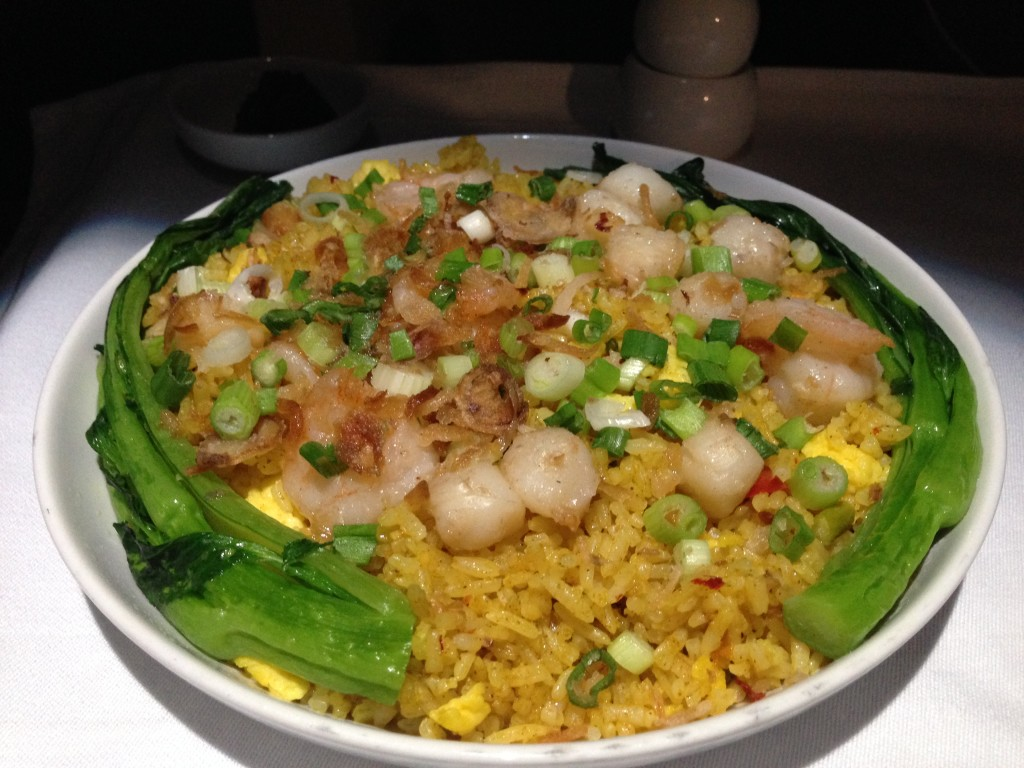 Scallop and prawn rice for breakfast got me in that Singapore mood