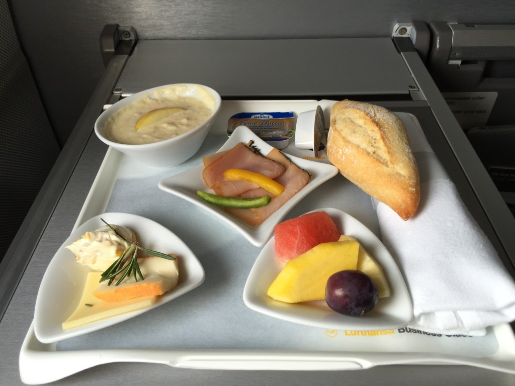 A light breakfast between Hamburg and Frankfurt hit the spot