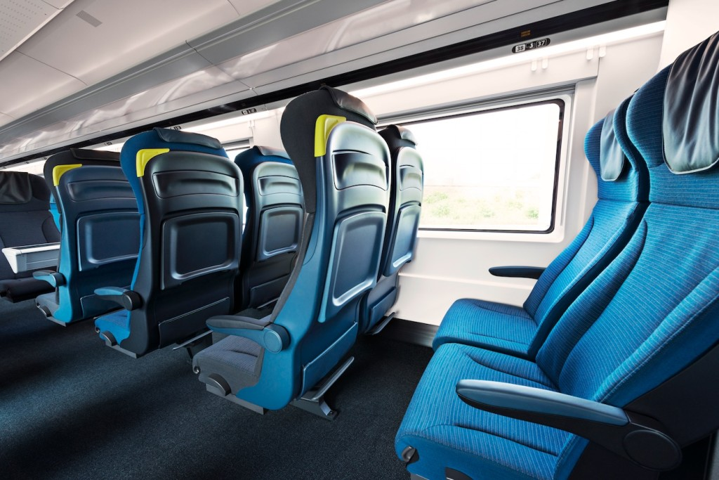 Eurostar's e300 and e320 trains are designed to look the same inside, regardless of train type