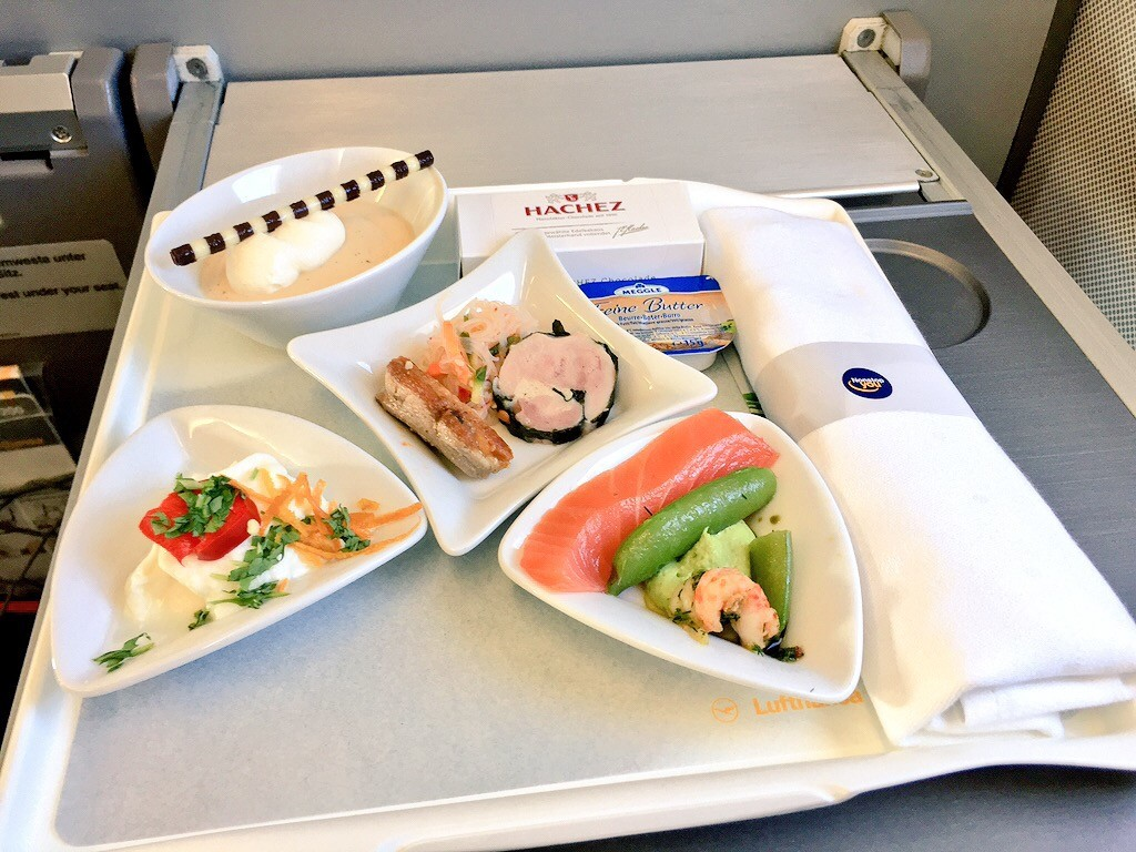 Lufthansa's Frankfurt-Birmingham meal was delicious
