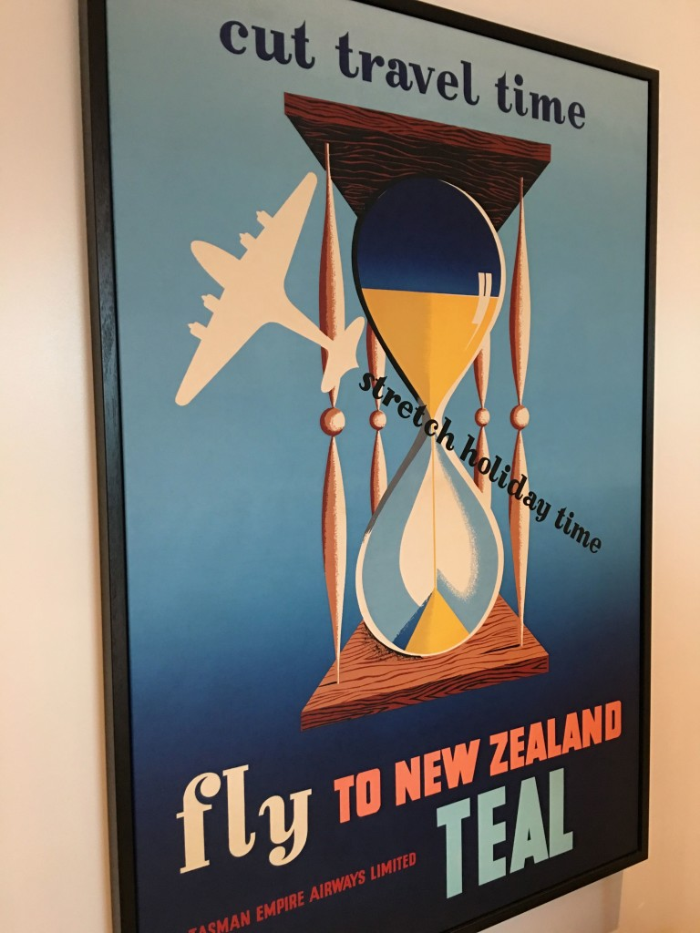 Air NZ's recent 75th anniversary celebrations are on show in the lounge