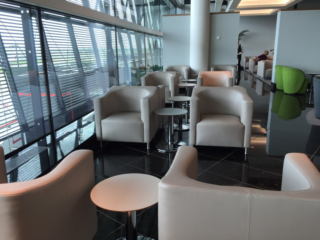 Icelandair uses the workmanlike Aer Lingus lounge in London Heathrow