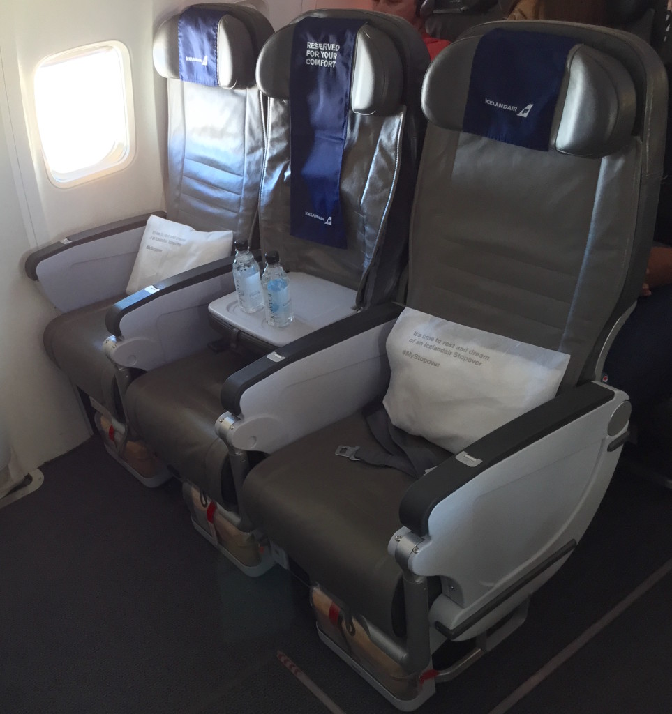 Only centre seats will have the spare middle free on the 767