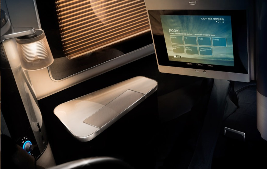 The premium cabin IFE conundrum - big screen further away, or smaller screen close up?