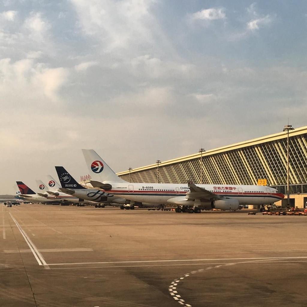 China Eastern dominates at Shanghai's Pudong International Airport--JW
