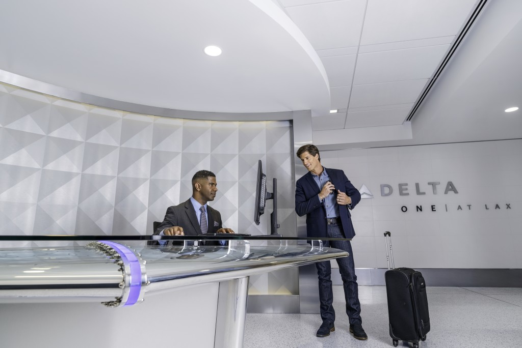 Delta also offers an exclusive fast-track entry at LAX — will only the most exclusive celebs be using the new terminal. Image: Delta.