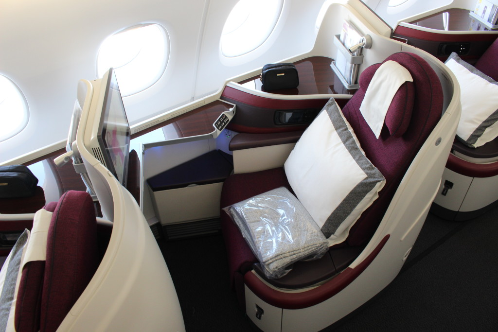 Qatar Airways is planning a superbusiness class, replacing even these gold standard seats. Image - John Walton