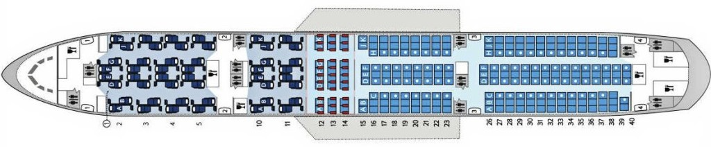 Three-class seatmap - inline