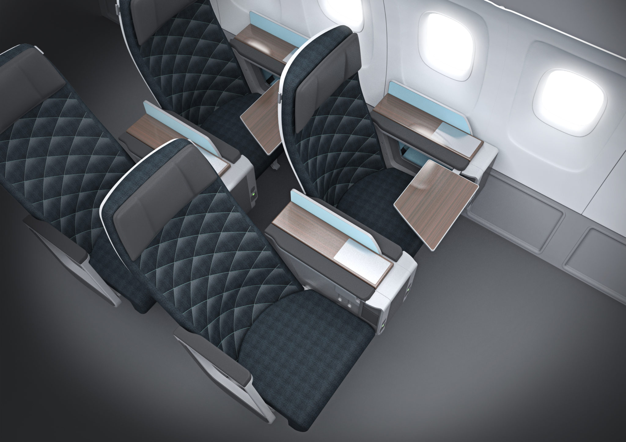 Acro's Series 7, its premium economy product, has been designed to remove seat structural outcroppings from passengers' way. Image - Acro