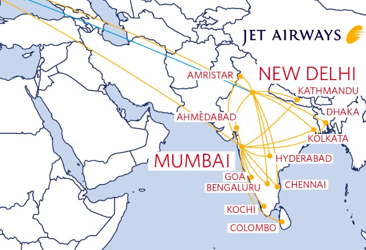 Despite Delta's inability to spell Amritsar, the codeshare network ticks the boxes of India's key cities. Image - Delta