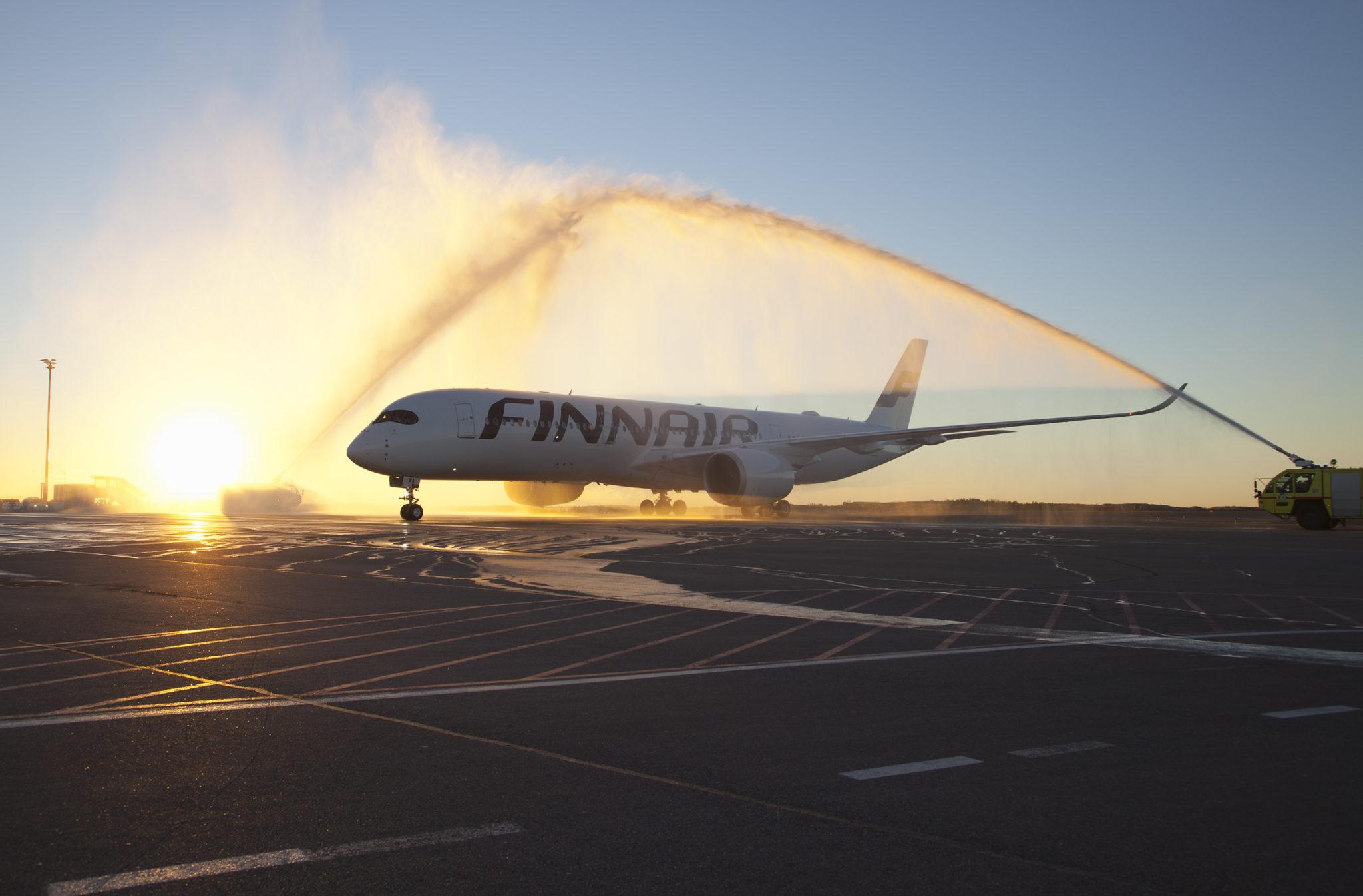 Finnair's A350 arrival