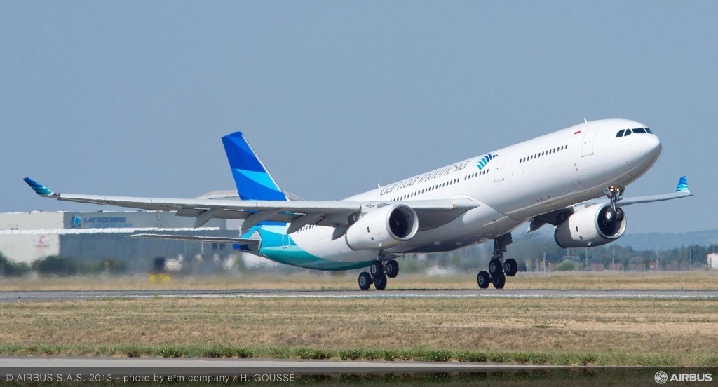 Garuda's new seats will be installed on a factory-fresh A330. Image - Airbus