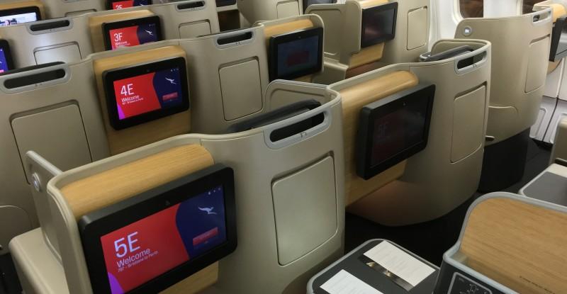 Qantas a330-300 business class