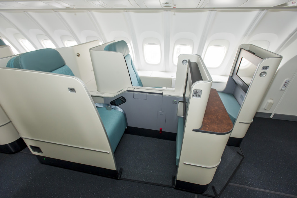 In addition to the 747 8I Korean Airs refit A330 aircraft also use the BE Apex seat