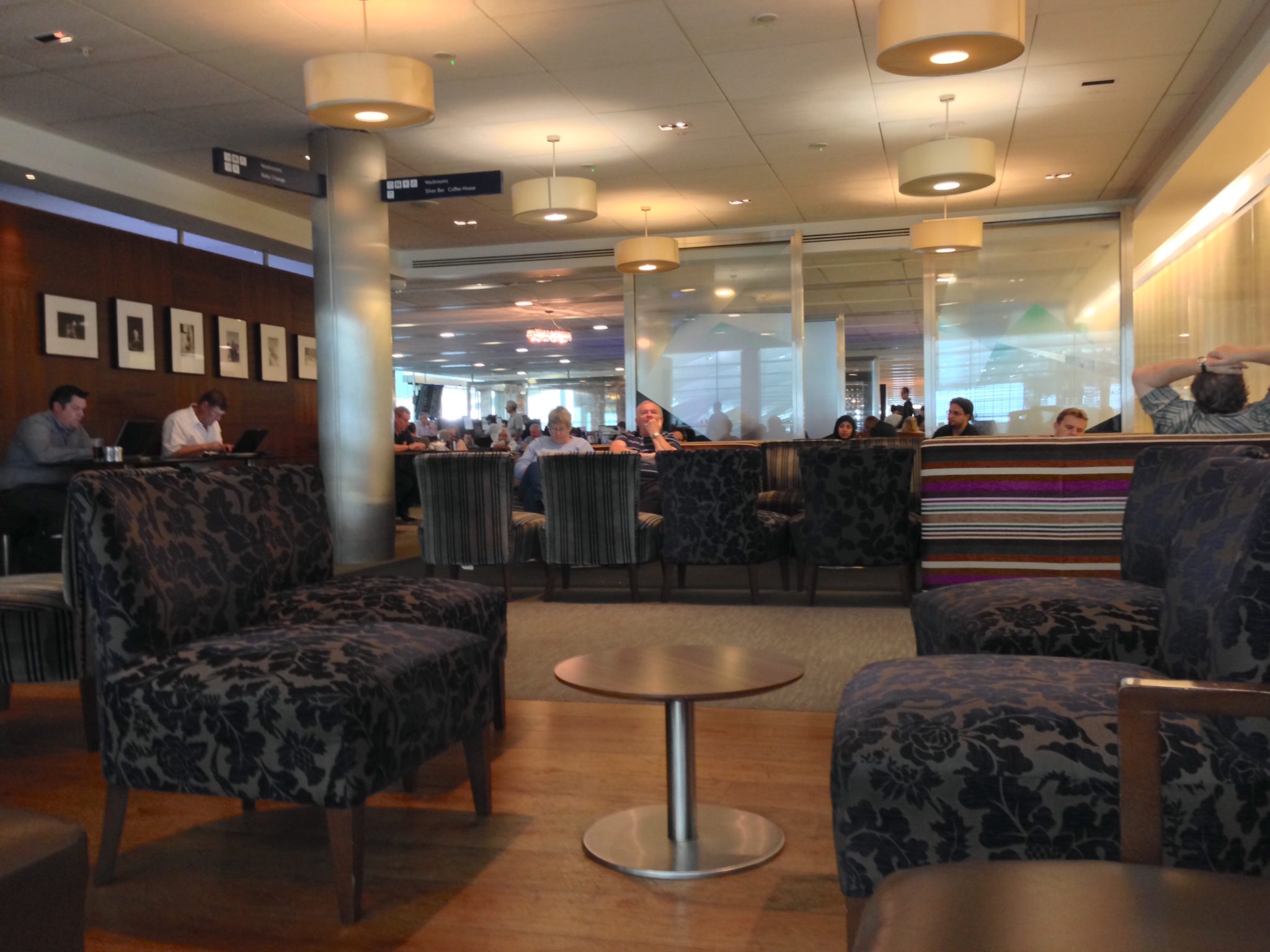BA's Galleries Club feel like school common rooms — rather battered furniture, a bit dim, and quite noisy