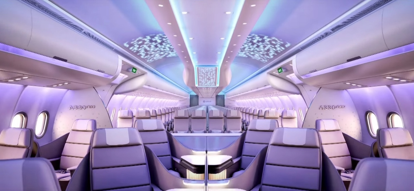 No airline will give sight directly through business to economy. What discussion can be started around this? Image: Airbus