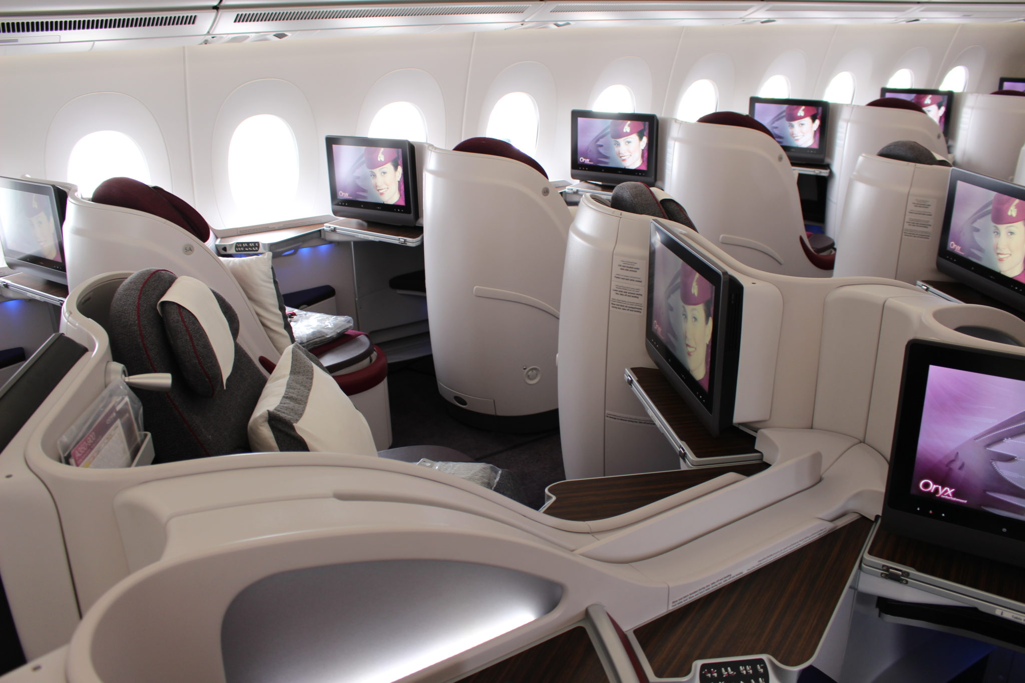 Qatar uses B_E Super Diamond seats on the A380, A350 and 787. Image - John Walton