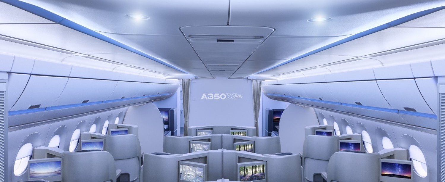 The interface between seat and sidewall needs some thought too. Image: Airbus