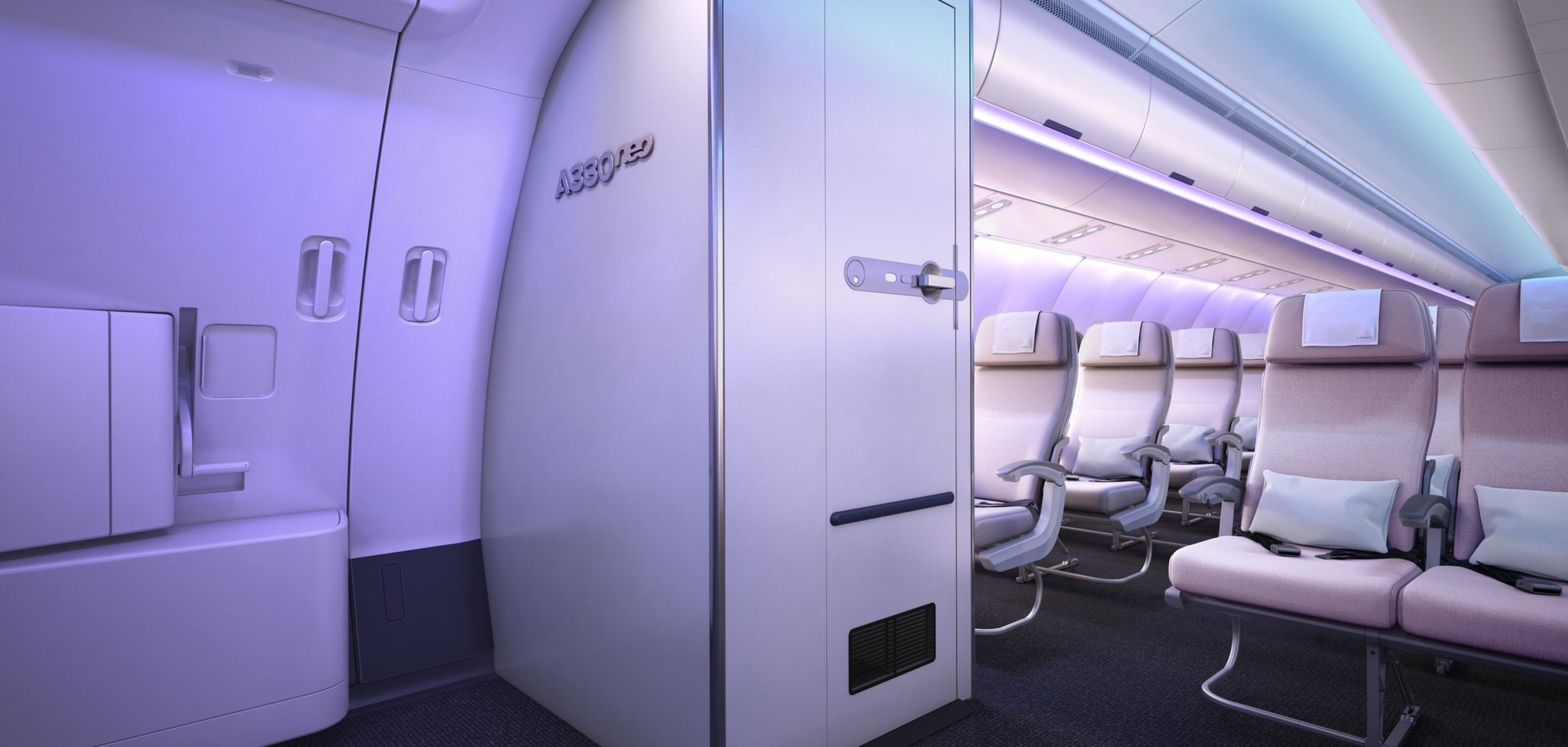What truly smart options exist around lavatory placement? Image: Airbus