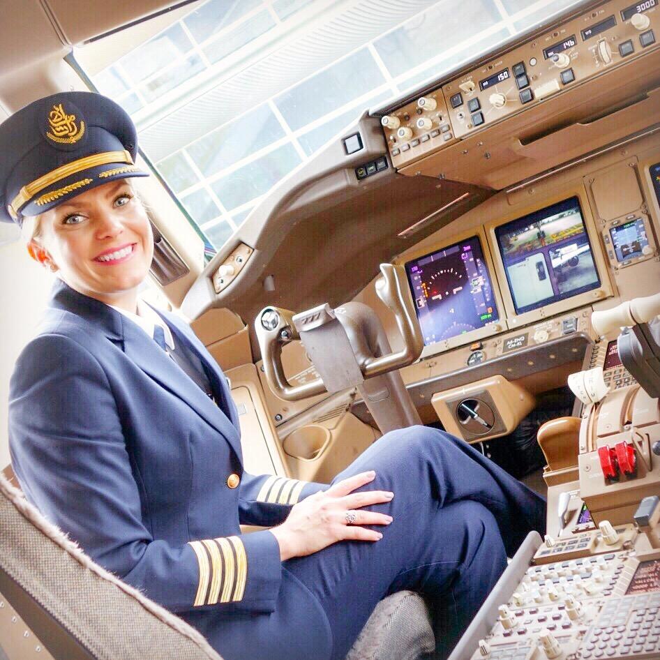Emirates pilot Ashley Klinger- Image Courtesy of Emirates