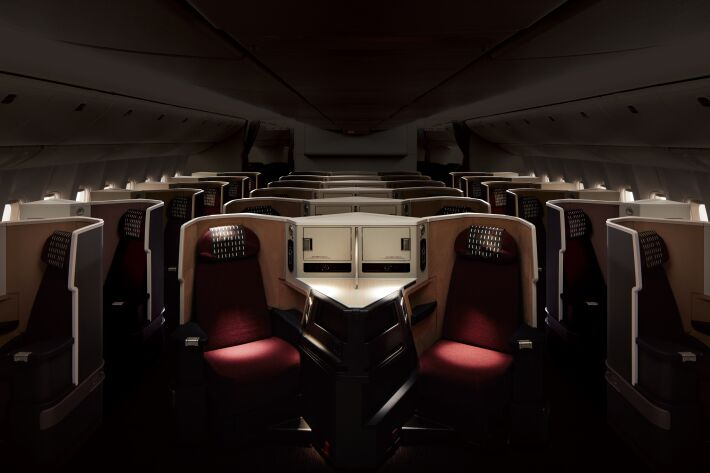 Every seat in the JAL cabin is functionally the same. Image: JAL