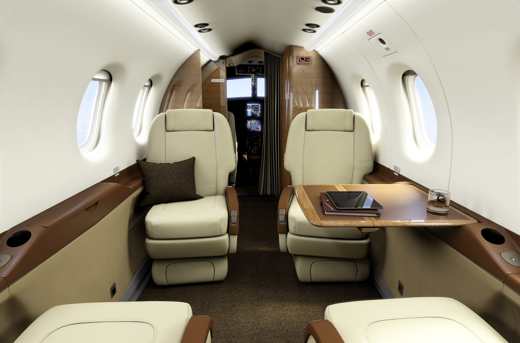 Comfortable seating for 9 makes this aircraft a nice way of commuting. Image: