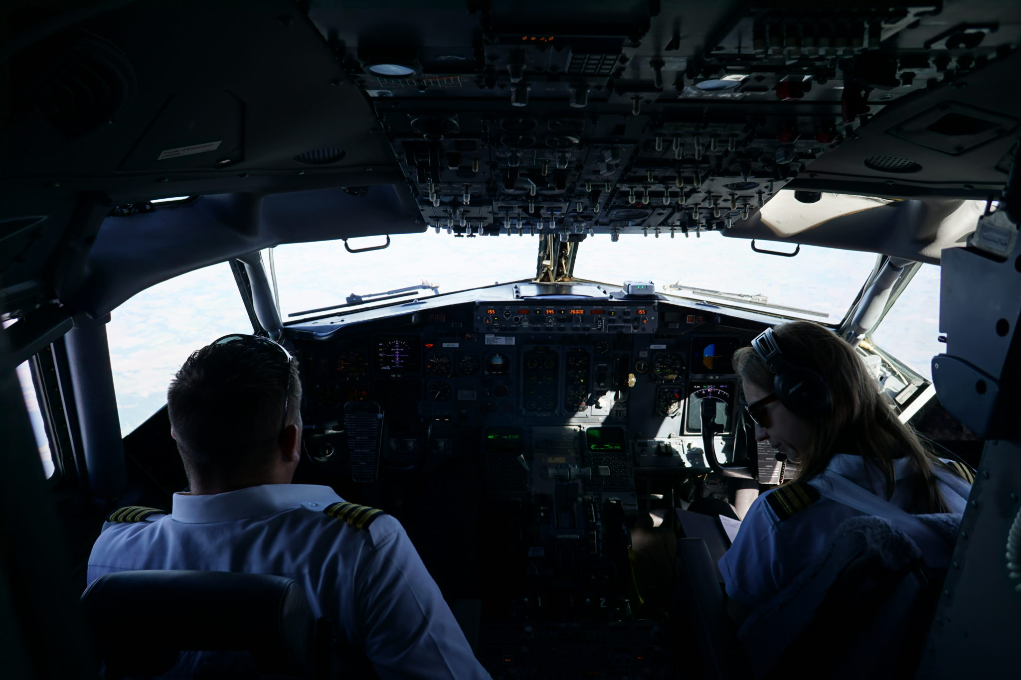 Nadia Kountoures in flight Image: Gogo