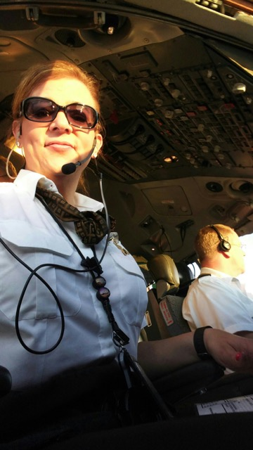 Lepley is a first officer on the MD-11 fleet. Image: Kelly Lepley