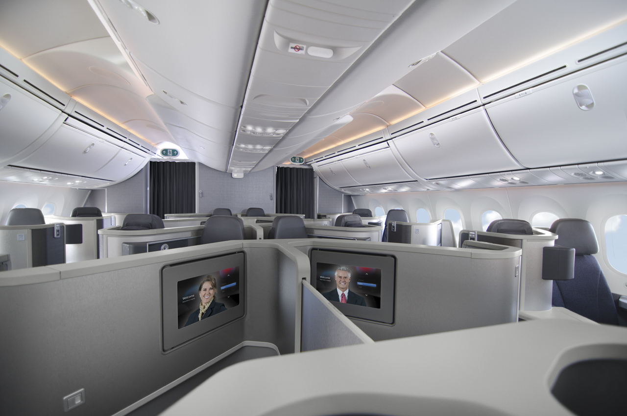American isn't showing a lot of pictures of this forwards-backwards layout these days. Image: American Airlines
